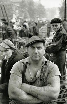 Анри Картье-Брессон Рынок Les Halles, 1952.