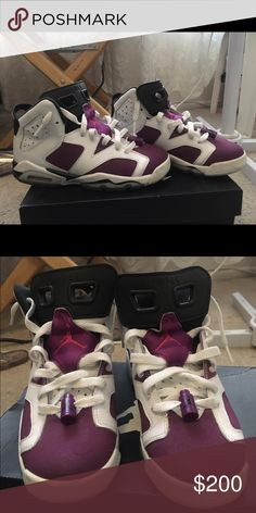 Jordan 6 . Size 5y Good Condition. Only worn a couple times. Only selling because they're too small. Shoes Sneakers