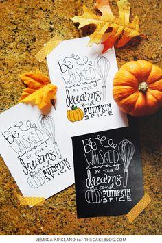 FREE Fall Kitchen Print | Jessica Kirkland for TheCakeBlog.com