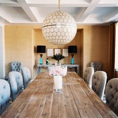 i love this table and the tufted dining chairs
