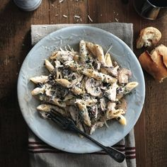 Lidia's penne with ricotta and mushrooms Who better to teach us the secrets behind the best-ever pasta than the mother of Italian cooking herself? Get Lidia's easy pasta recipe at Lidia's Recipes, Great Recipes, Cooking Recipes, Recipies, Copycat Recipes, Drink Recipes, Vegetarian Recipes, Dinner Recipes, Favorite Recipes
