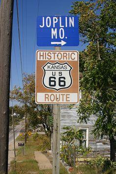 Route 66 - Galena, Kansas ~  highway runs just 13.2 miles through Kansas, linking Missouri w/ Oklahoma