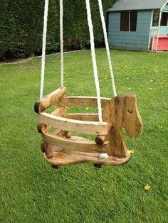 It wooden ropes swing children interesting