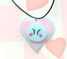 Anime Clannad dango daikazoku  kawaii heart pendant by CreaBia