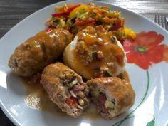Faszerowane roladki z mięsa mielonego Pina Colada, Baked Potato, Potatoes, Chicken, Baking, Ethnic Recipes, Blog, Diet, Recipes