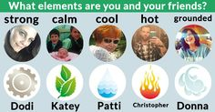 What elements are you and your friends?
