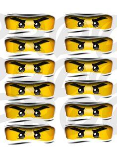 CUSTOM Lego Ninjago MEDIUM eyes for party favors. $2.00, via Etsy.