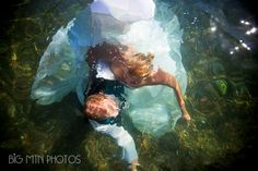Our underwater wedding! Trash the Dress pictures