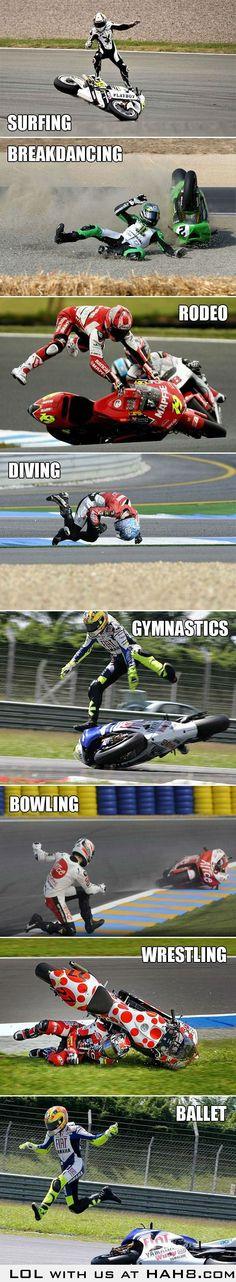 the many skills of a bike racer....  loved the ballt