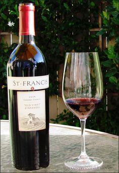 St. Francis Zinfandel Wine #stfrancis #zinfandel #richflavor #zonoma #zin #huge #sweet Please re-pin!