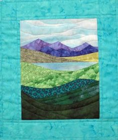 Accidental Landscapes - NEW! Hanging Quilts, Quilted Wall Hangings, Quilting Projects, Quilting Designs, Acrylic Landscape, Landscape Art Quilts, Art Watercolor, Fabric Postcards, Fabric Pictures