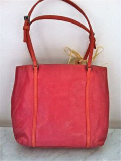 Prada Mini Pink Leather Bag With Spaghetti Handles via The Queen Bee. Click on the image to see more!