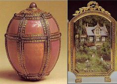 faberge+eggs+Danish+Palaces | Fabergé -- The Danish Palaces Egg -- 1890 -- Made for Alexander III ...