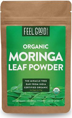 Organic Moringa Leaf Powder - 4oz Resealable Bag - 100% Raw From India - by Feel Good Organics *** Check this awesome image  : Weight Loss Herbal Supplements