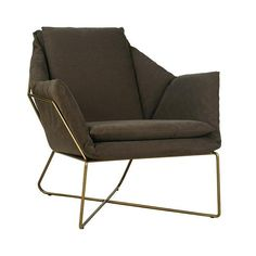 Shop a great selection of Arm Chair Dovetail Benson Stonewashed Brass Moss Green Metal Frame Canvas. Find new offer and Similar products for Arm Chair Dovetail Benson Stonewashed Brass Moss Green Metal Frame Canvas. Furniture Direct, Large Furniture, Furniture Decor, Cheap Comfy Chairs, Dovetail Furniture, Accent Chairs For Sale, Leather Recliner Chair, Upholstered Sofa, Occasional Chairs