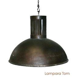 Lámpara estilo industrial.