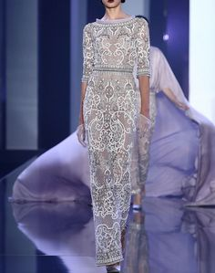 Ralph & Russo Fall 2014 Haute Couture, white gown : lace