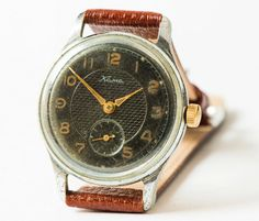 Antique men's watch KAMA Soviet retro wrist watch by SovietEra, $75.00