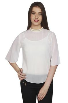 URSENSE-White Color Georgette Top-ETE-7125  tops  latest  fashion   newarrival  nicelooking  zinnga 7f0d23f53