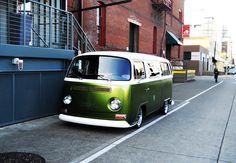vw green bus