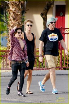 The Vamps' James McVey & Bradley Will Simpson Take A Walk Before Vegas Concert