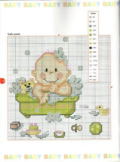 Labores de Ana Baby nº 16_1 -baby en la bañera