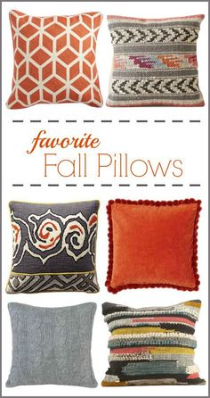 Favorite Fall Pillows - perfect for a room refresh!