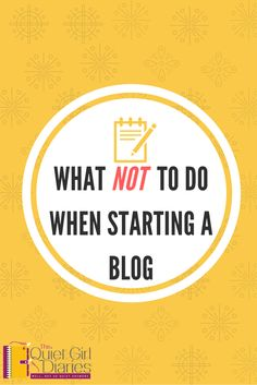 I have learned a lot since I started blogging in 2016. I've decided to share some tips of what you don't want to do if you plan on starting a blog.