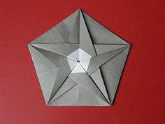Stellated pentagon tato (Mlisande*) Tags: origami mlisande pentagon tato