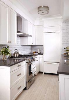 Kitchen Apartment the tile shop: hampton carrara pillow backsplashnotice the