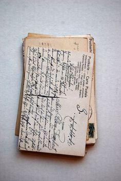 Handwritten postcards