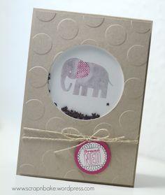 Stampin' UP! - Zoo Babies - Kleine ganz groß - Shaker Card - Schüttel Karte - Baby  - Sternenkonfetti