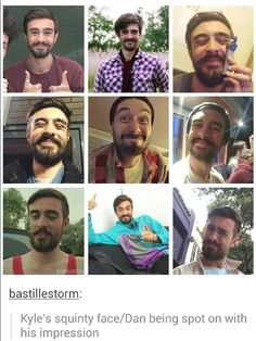 The middle pic isn't Kyle it is Dan pretending to be Kyle