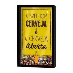 Quadro Porta Tampinhas De Cerveja- tocadaarte.com.br