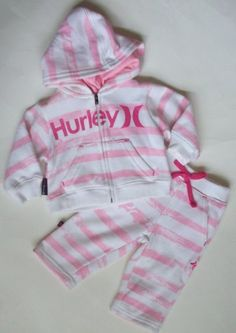 Hurley Baby/Infant Girl's 2 Piece Sweatsuit - Pink/White (0-3 Months) Hurley, http://www.amazon.com/dp/B008SQFYDG/ref=cm_sw_r_pi_dp_wwfjqb0JPJQVD