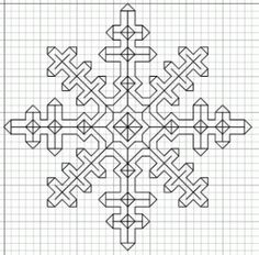 Blackwork Snowflake