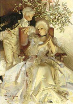 God. Gorgeous. Joseph Christian Leyendecker, The Courtship