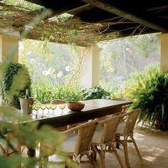mooie tuin veranda