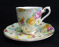 Vintage 1930's English Royal Albert Chintz Cup & Saucer S13-111