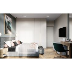 Furniture, Beautiful Bedrooms, Contemporary Style, Interior, Home, Bedroom Interior, Bed, Interior Design, Korean Apartment