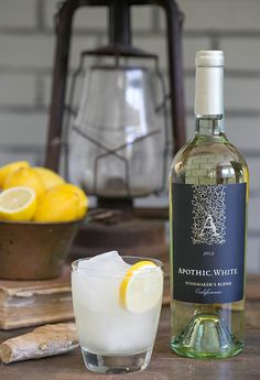 A Refreshing Ginger & Lemon White Wine Cocktail - Sugar and Charm - sweet recipes - entertaining tips - lifestyle inspiration