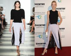 Jaime King In Wes Gordon - Annenberg Space for Photography Exhibit Opening. Re-tweet and favorite it here: https://twitter.com/MyFashBlog/status/470014545654972416/photo/1