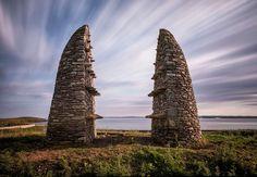 The Aiginis Farm Raiders's Memorial, at Aiginish, Stornoway, Isle of Lewis, Scotland. Built by Jim Crawford.