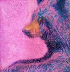 pink teal colorful contemporary bear print for sale Bear Print, Animal Paintings, Fine Art Paper, Lisa, Teal, Colorful, Contemporary, Creative, Prints