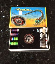 Vintage Toy Roulette In Box Layout Wheel And Chips Made In Japan by MacKenziesCottage on Etsy