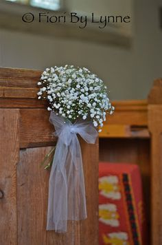"Kirsty""s Vintage Gold Wedding Flowers, Wickham Church Church Wedding Flowers, Wedding Pews, Wedding Chairs, Gold Wedding, Wedding Table, Wedding Bouquets, Pew Decorations, Church Wedding Decorations, Pew Flowers"