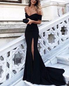 0d54342f10 Off The Shoulder Lace Mermaid Prom Dresses 2019 Elegant Evening Gowns –  alinanova Black Prom Dresses