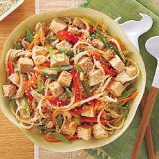 Rice Noodle Veggie-Tofu Salad Recipe