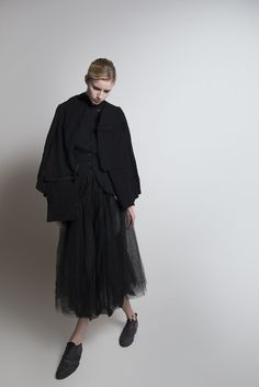 Elena Dawson FW14 WOMEN | Tulle Skirt | Short Cape | Tab Jacket #ElenaDawson #BlackCelebration # BlackCelebrationStore blackcelebrationstore.com
