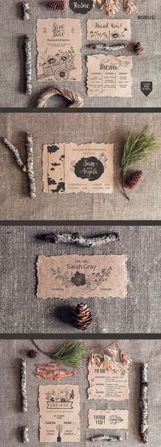 RUSTIC wedding collection: The package includes wildflowers and plants, wreaths, branches and trunks of trees, watering cans, cart, wooden boxes for flowers, dragonfly, rabbits, bottles and cans, flowers in a crystal and other graphical elements.